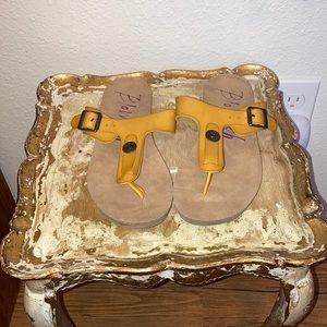 Yellow Blowfish Sandals